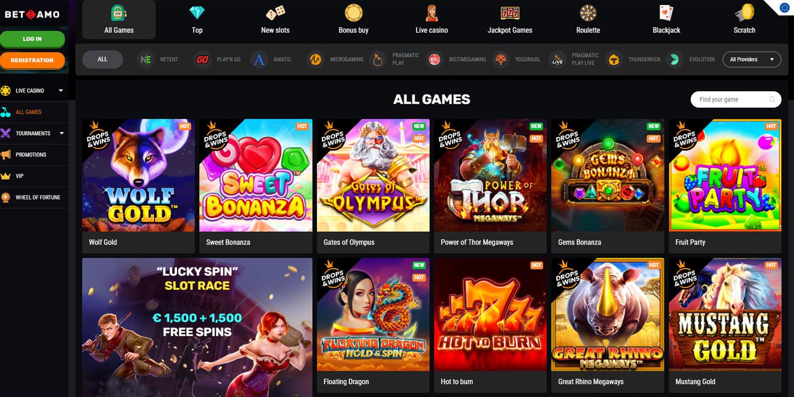 Betamo Casino Spellen