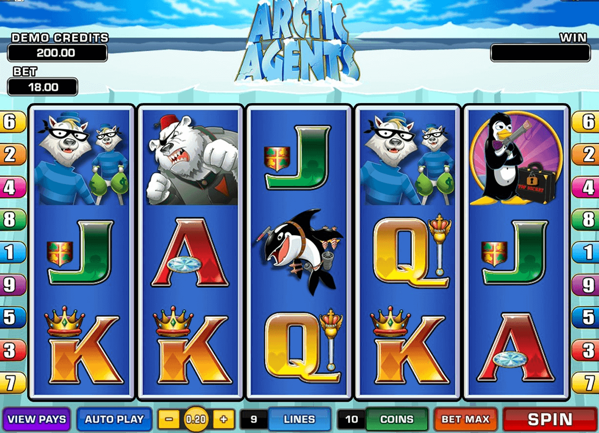 arctic agents microgaming gokkast