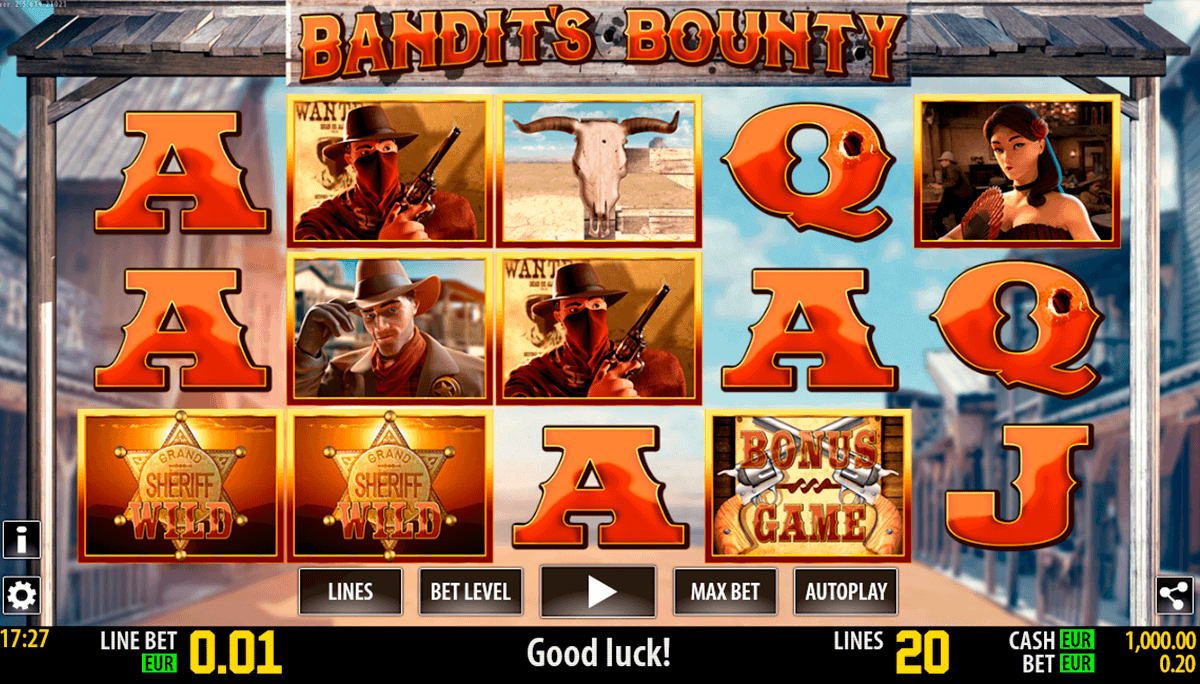 bandits bounty hd world match gokkast