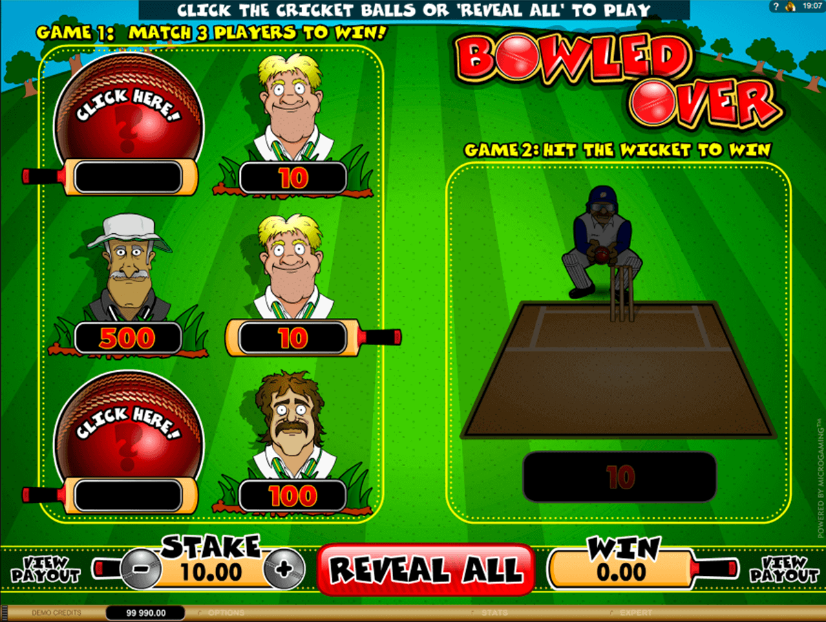 bowled over microgaming krasloten