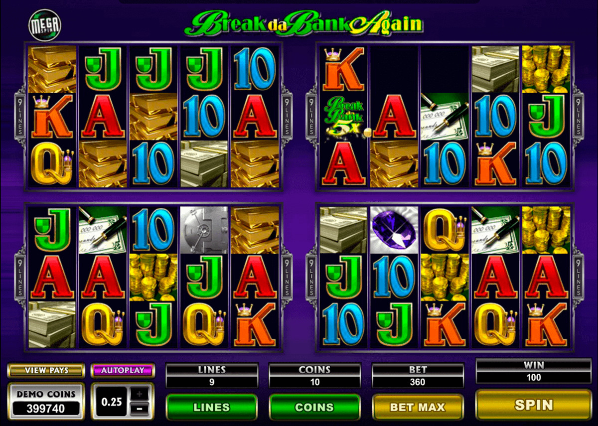 break da bank again megaspin microgaming gokkast