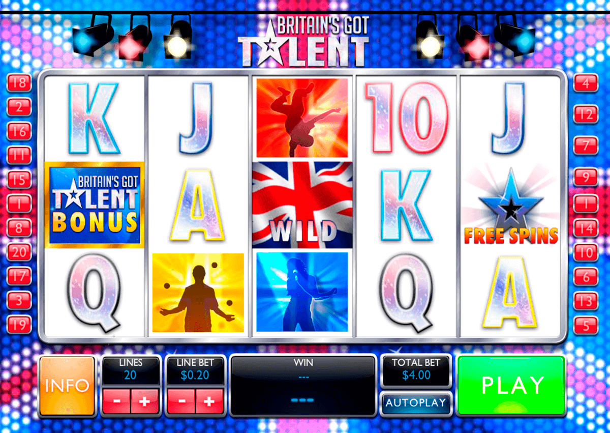 britains got talent playtech gokkast