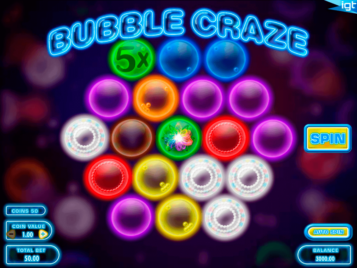 bubble craze igt gokkast