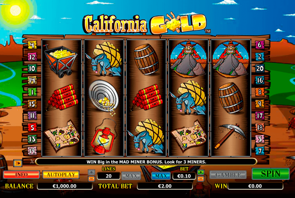 california gold netgen gaming gokkast