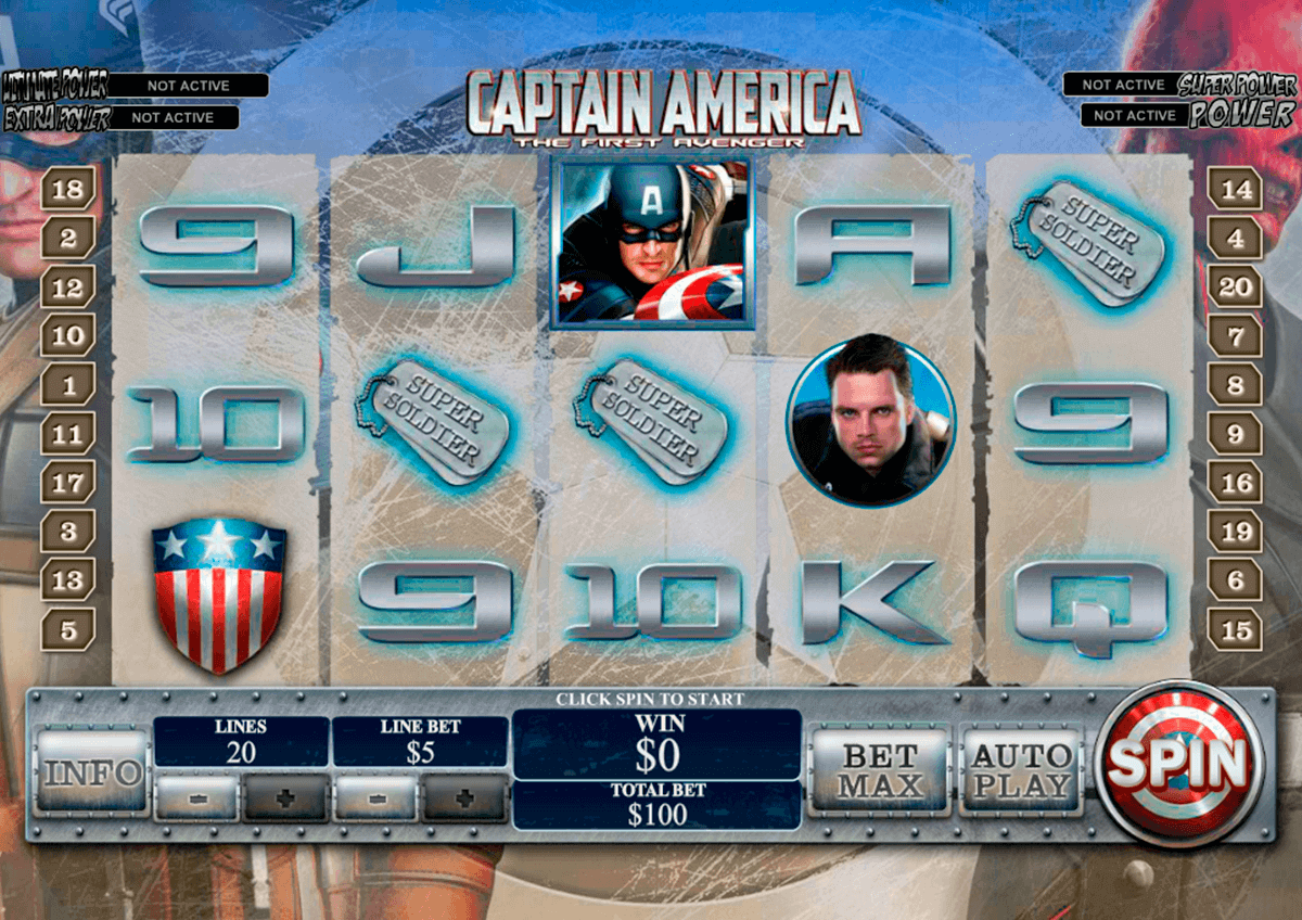 captain america playtech gokkast