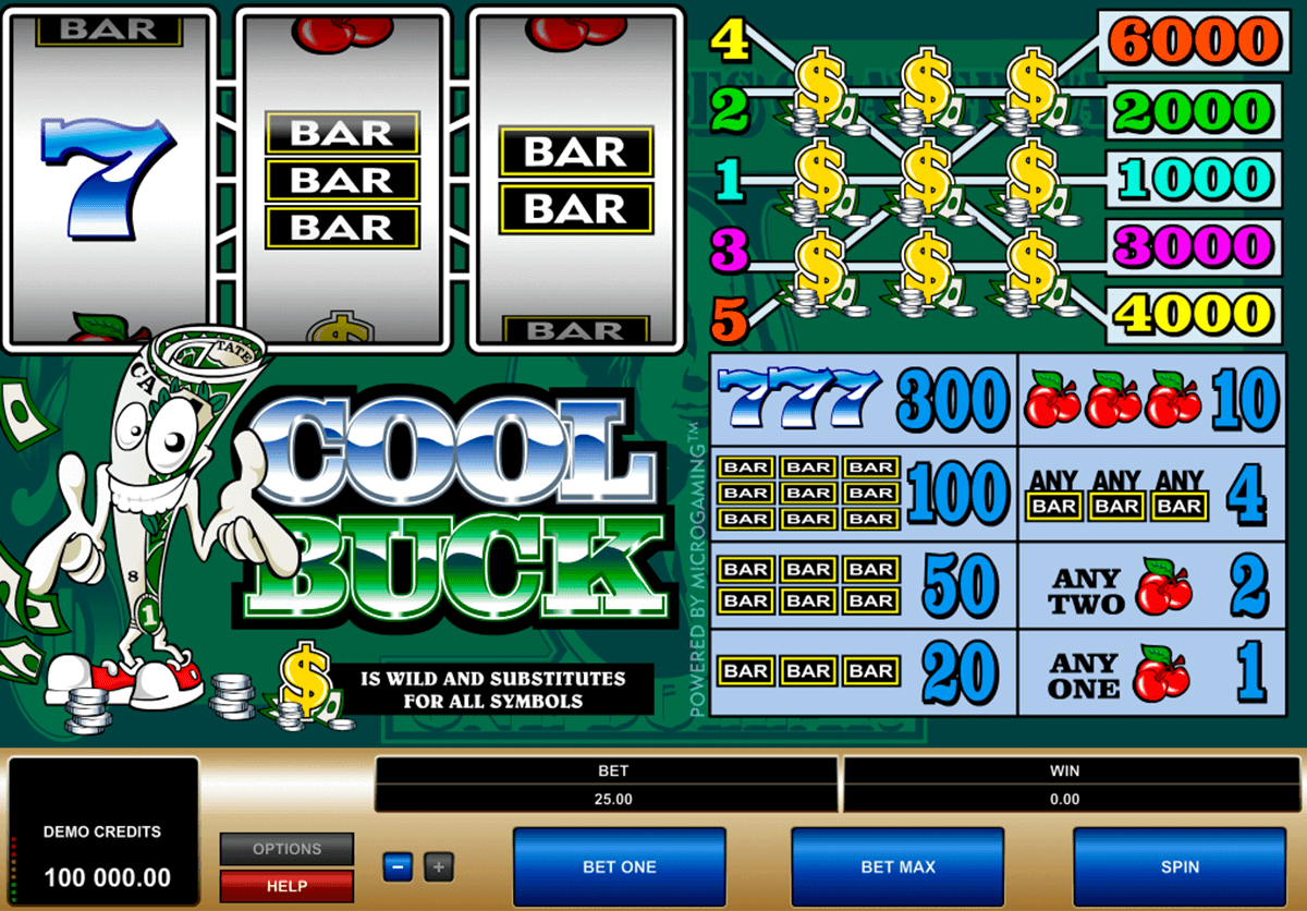 cool buck microgaming gokkast