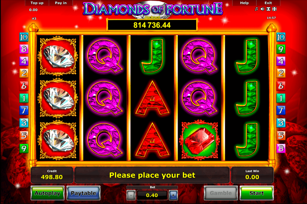 diamonds of fortune novomatic gokkast