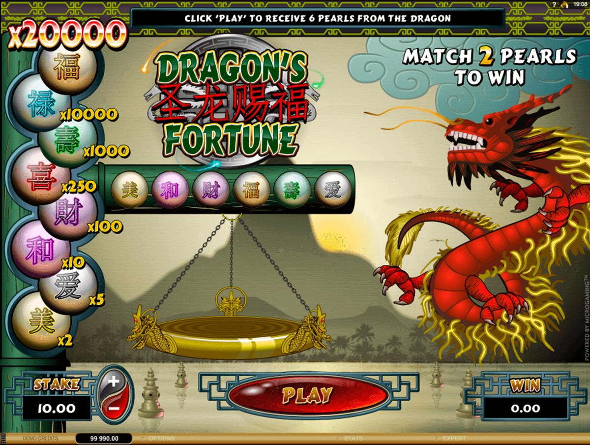 dragons fortune microgaming krasloten