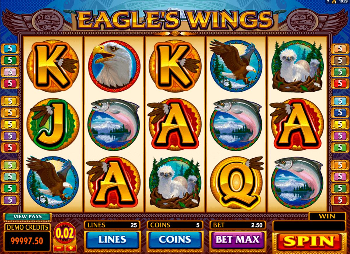 eagles wings microgaming gokkast