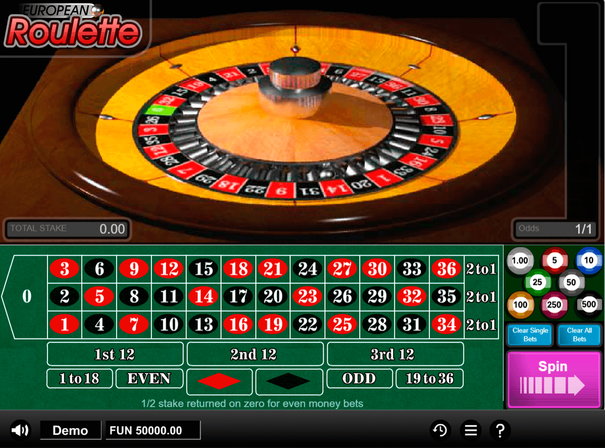 european roulette 1x2gaming