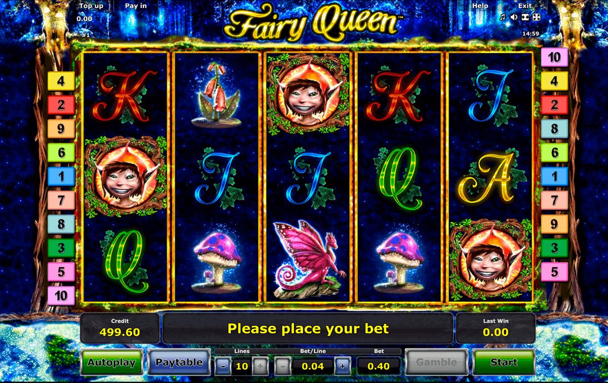 fairy queen novomatic gokkast