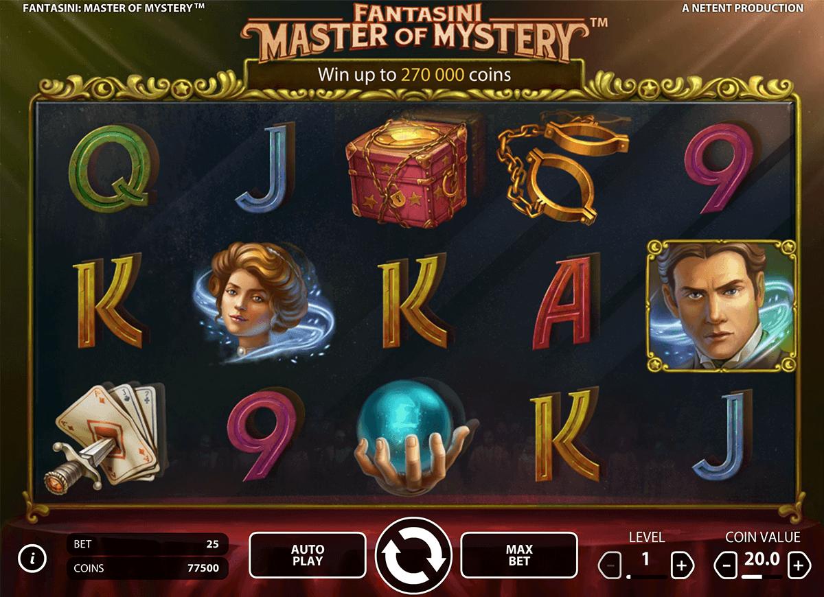 fantasini master of mystery netent gokkast