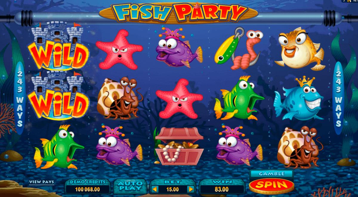 fish party microgaming gokkast