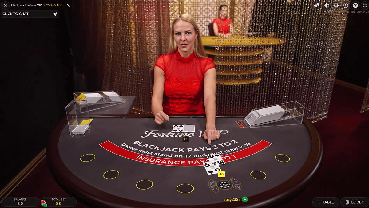 fortune vip blackjack evolution gaming