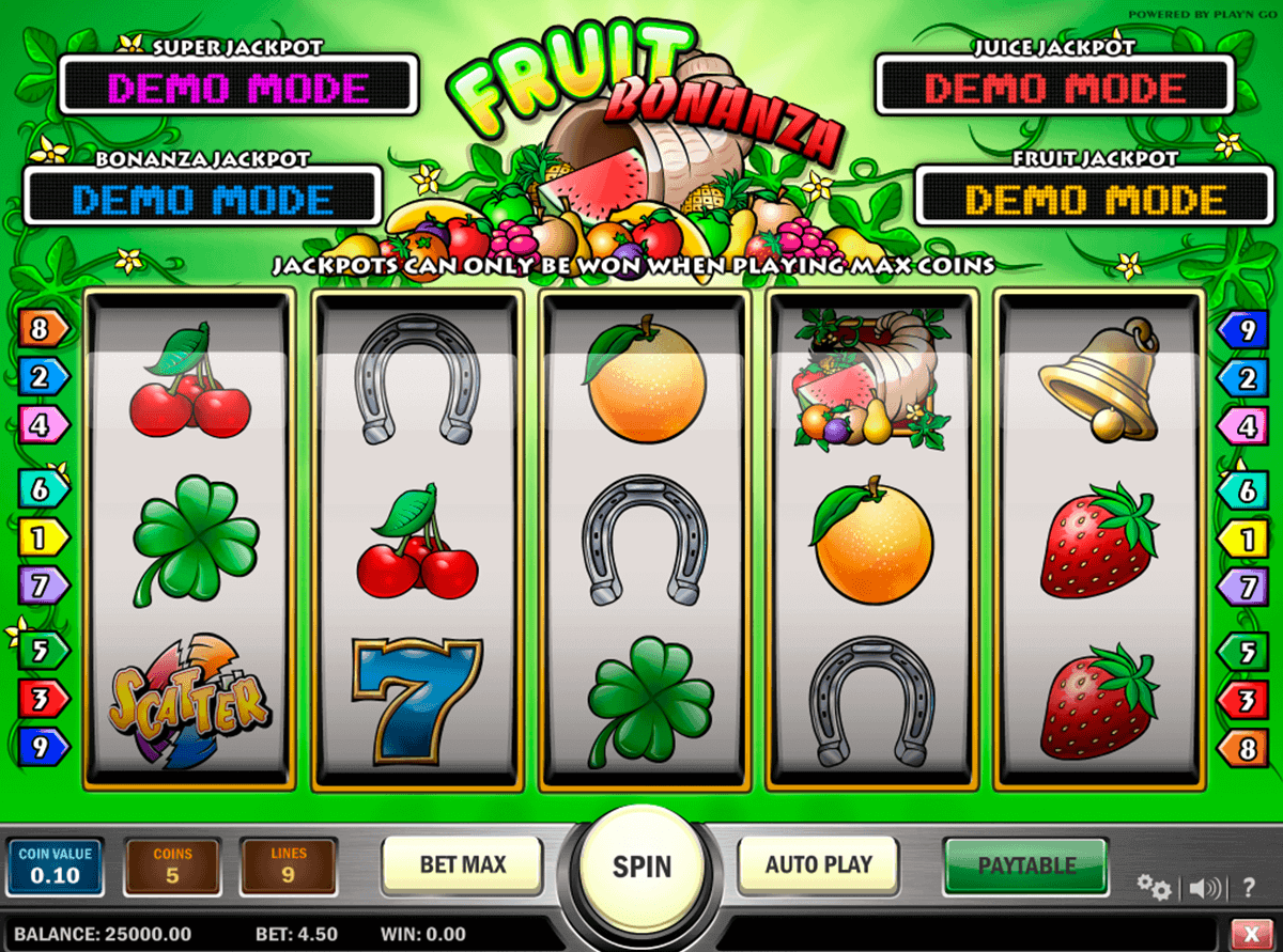 fruit bonanza playn go gokkast