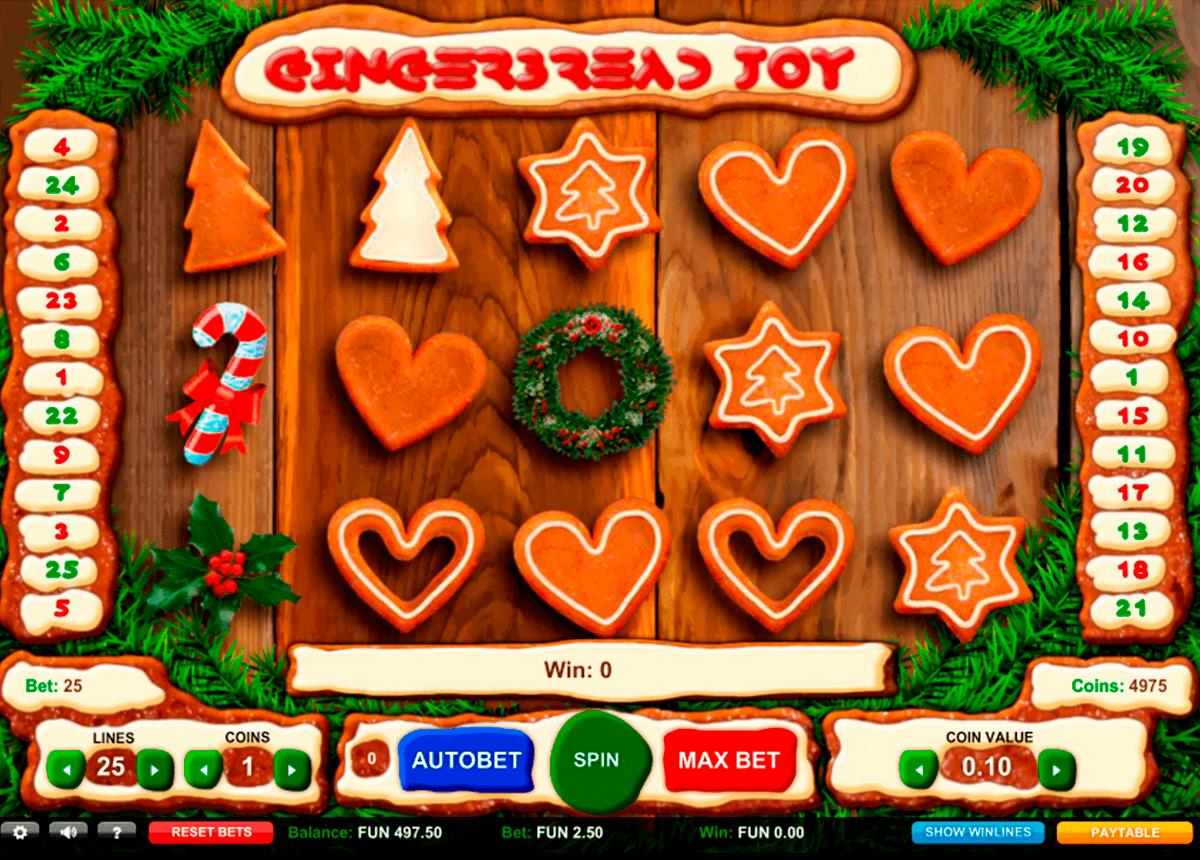gingerbread joy gaming gokkast
