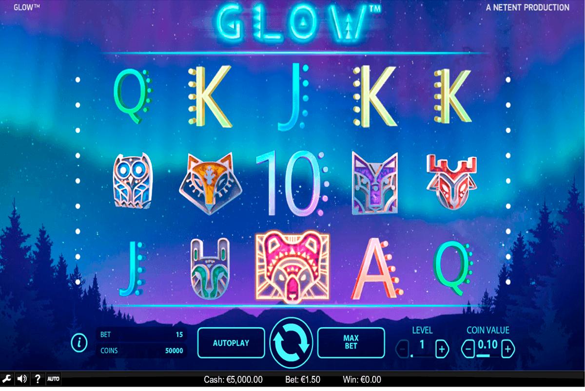 glow netent gokkasten