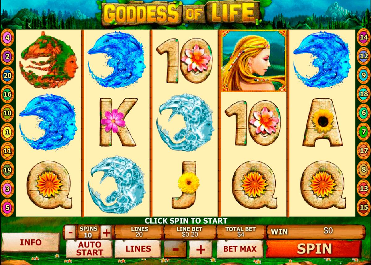 goddess of life playtech gokkast