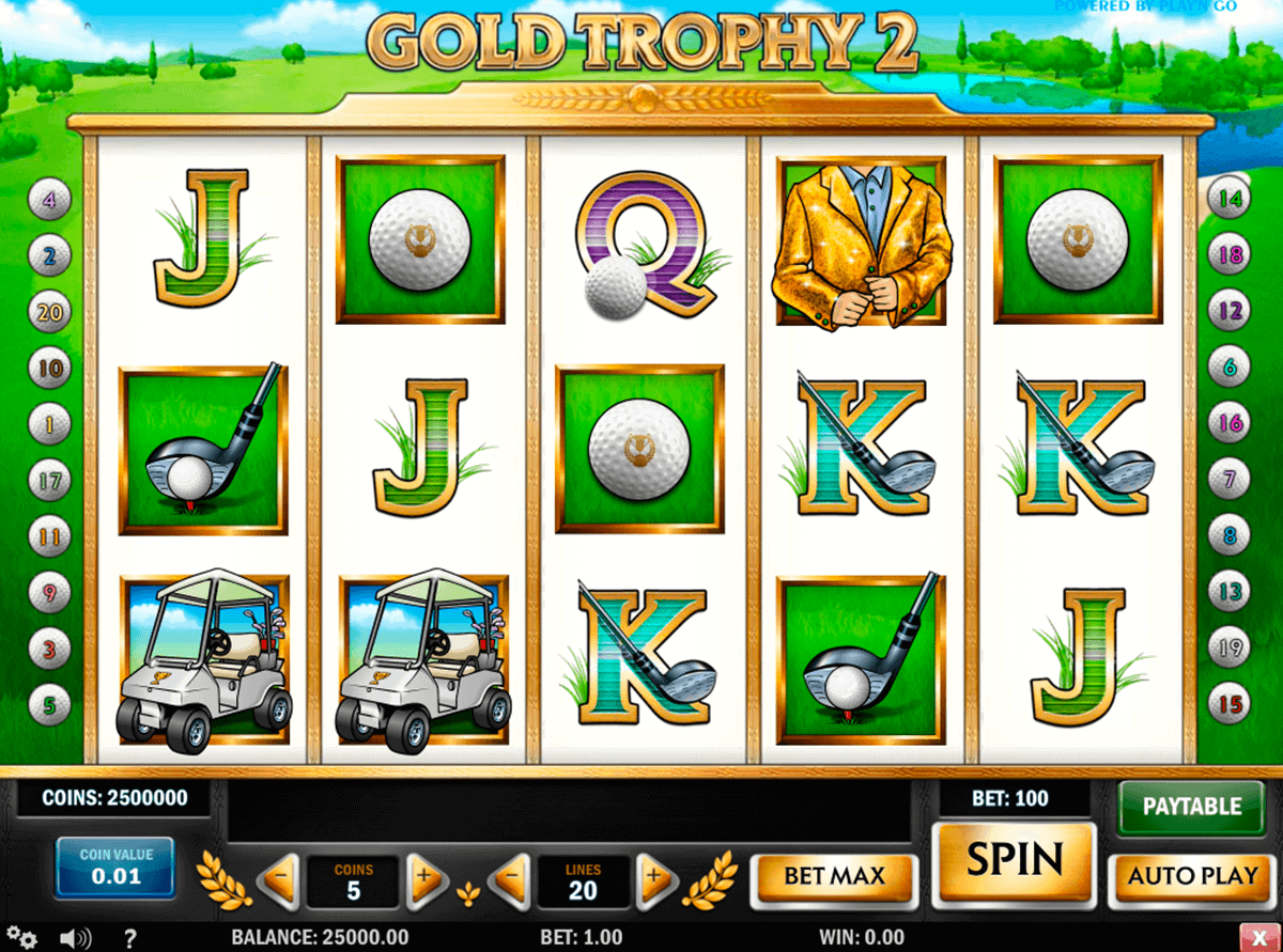 gold trophy  playn go gokkast