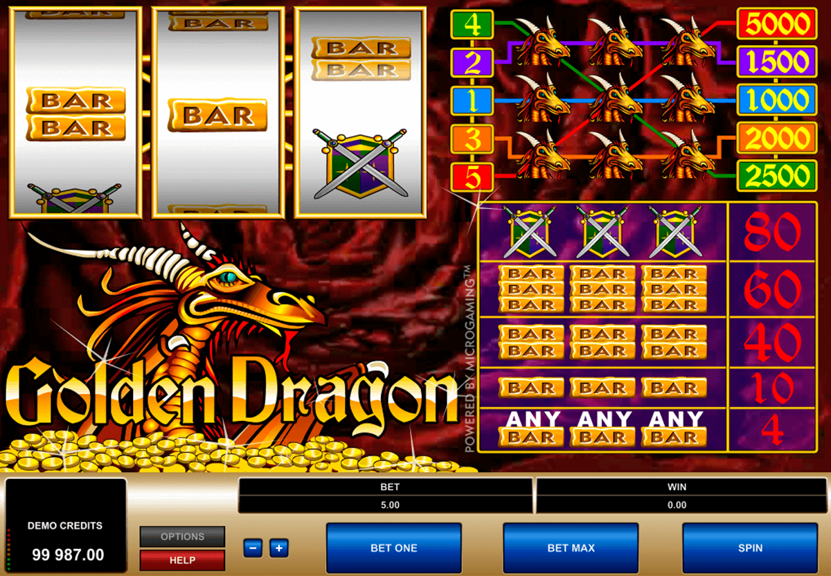 golden dragon microgaming gokkast