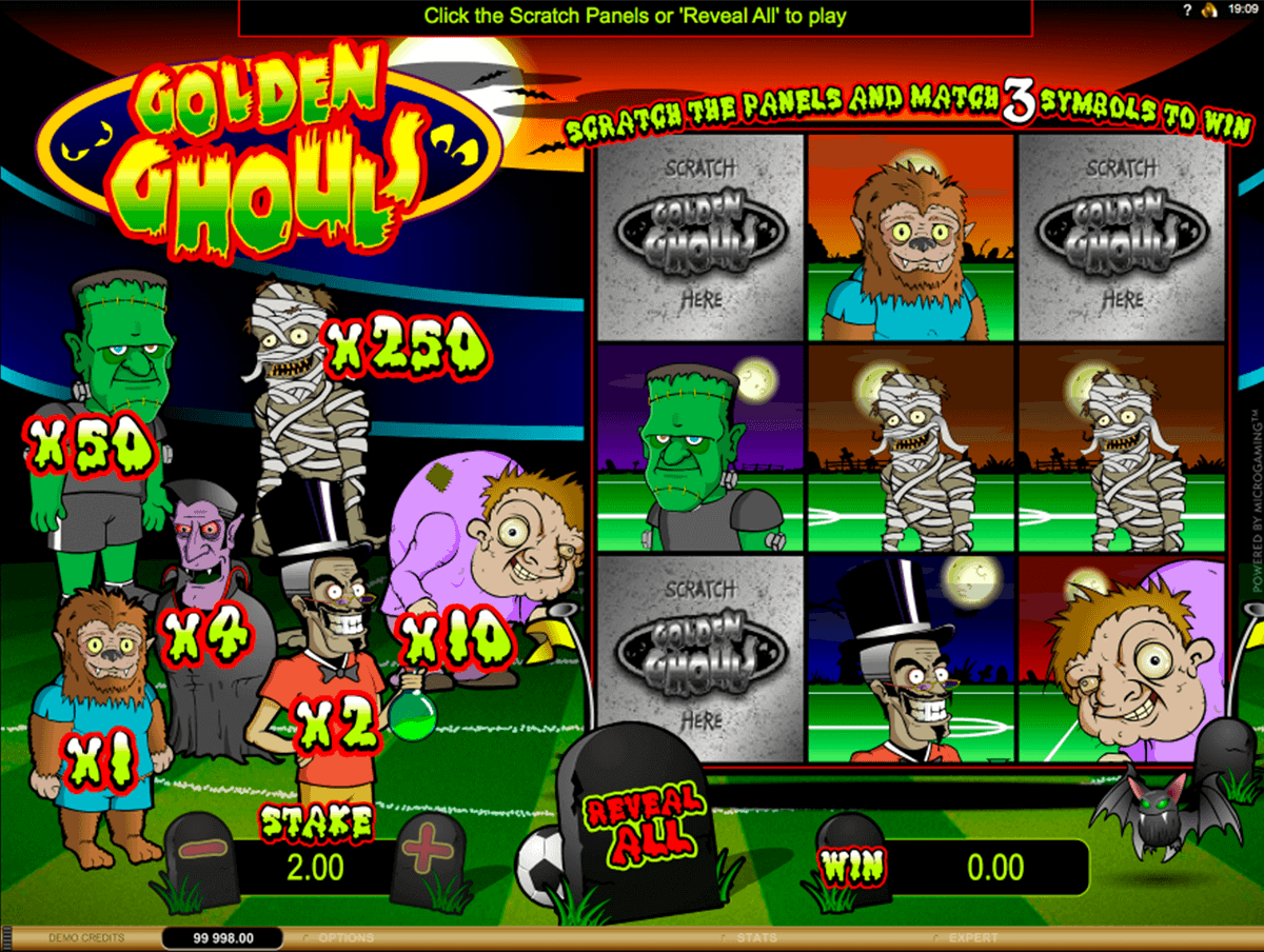 golden ghouls microgaming krasloten