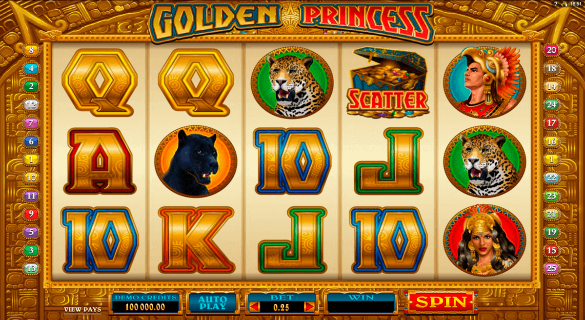 golden princess microgaming gokkast