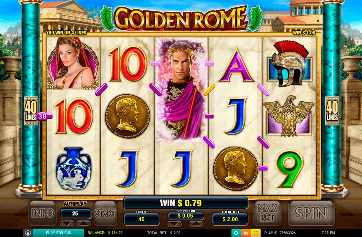 golden rome leander gokkast