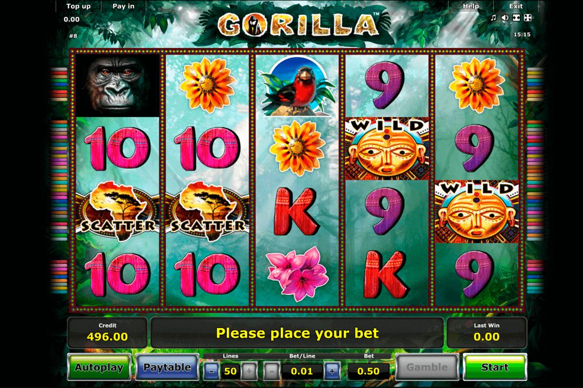 gorilla novomatic gokkast