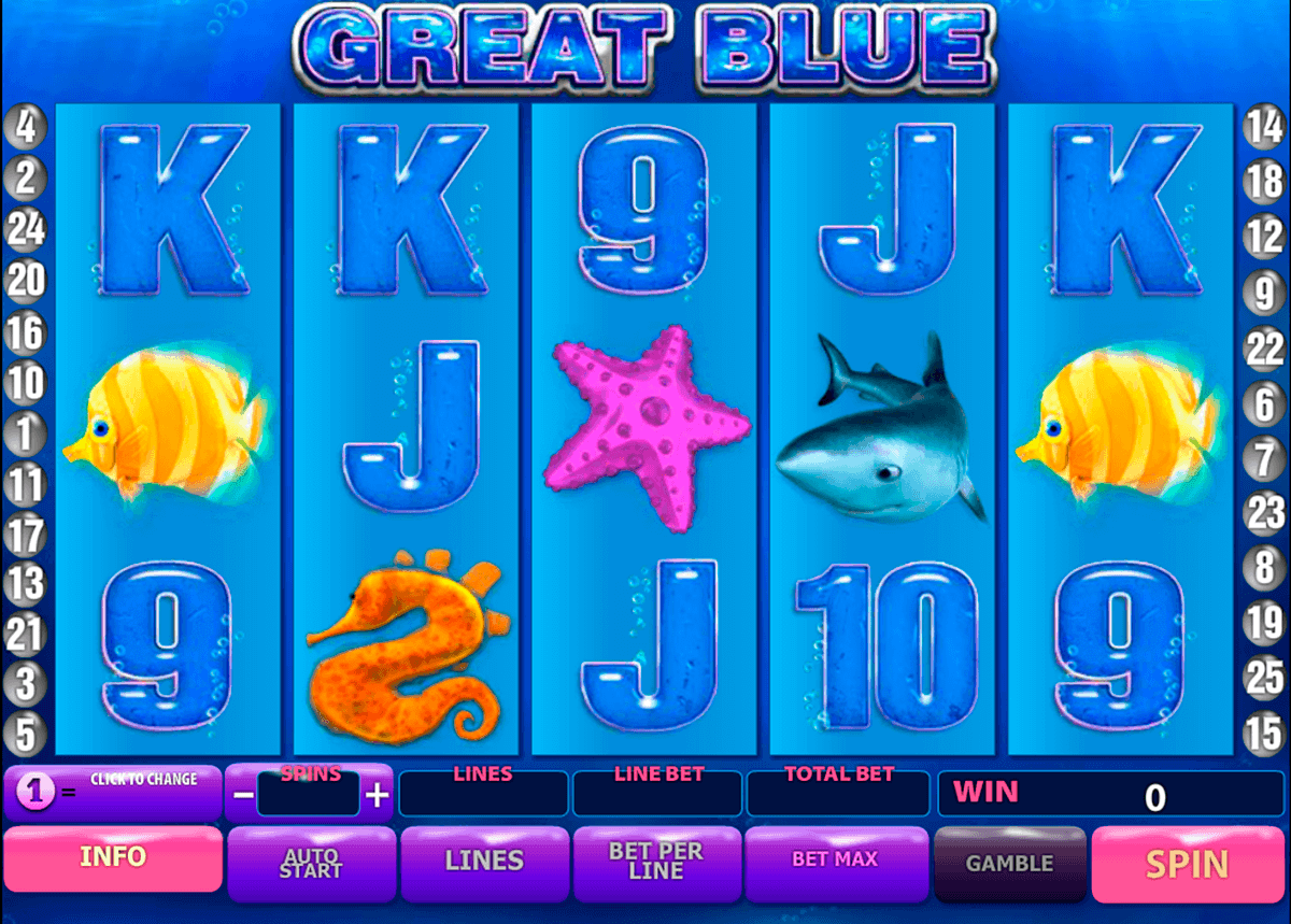 great blue playtech gokkast