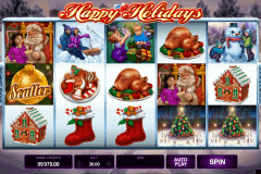 happy holidays microgaming gokkast