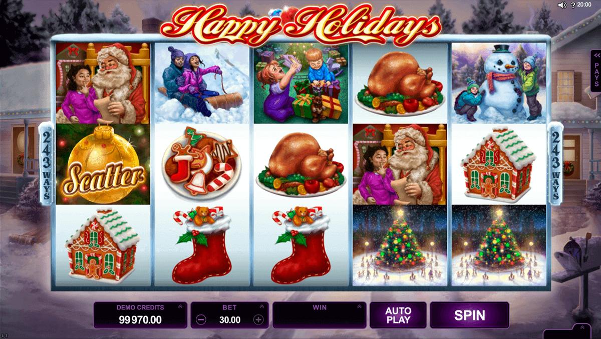 happy holidays microgaming gokkast