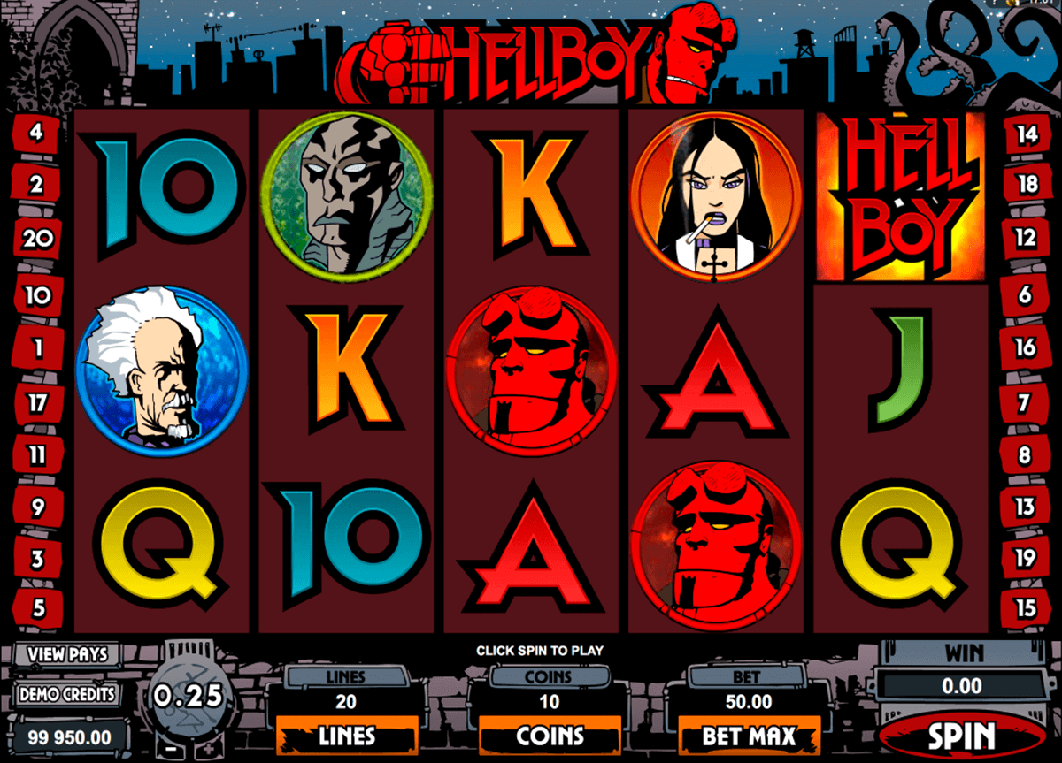hellboy microgaming gokkast