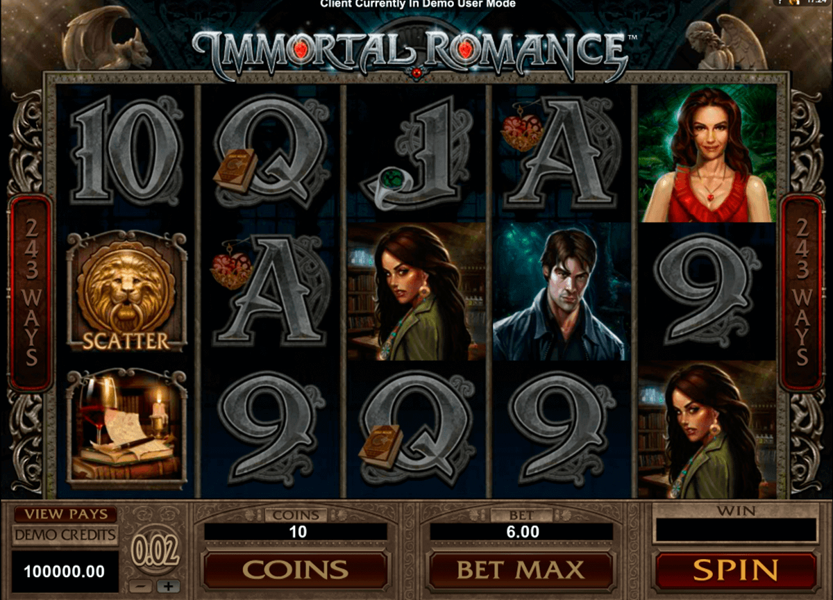immortal romance microgaming gokkast