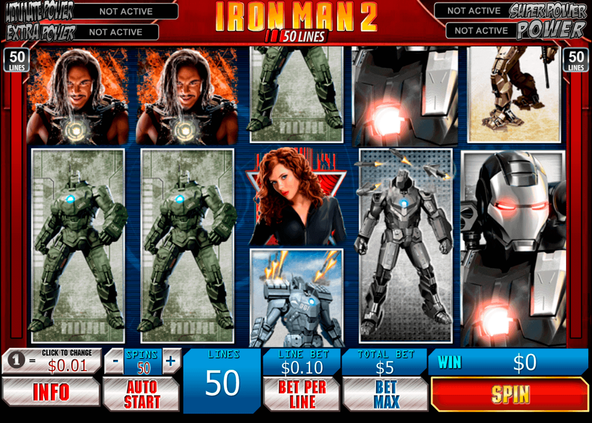 iron man 2 50 lines playtech gokkast
