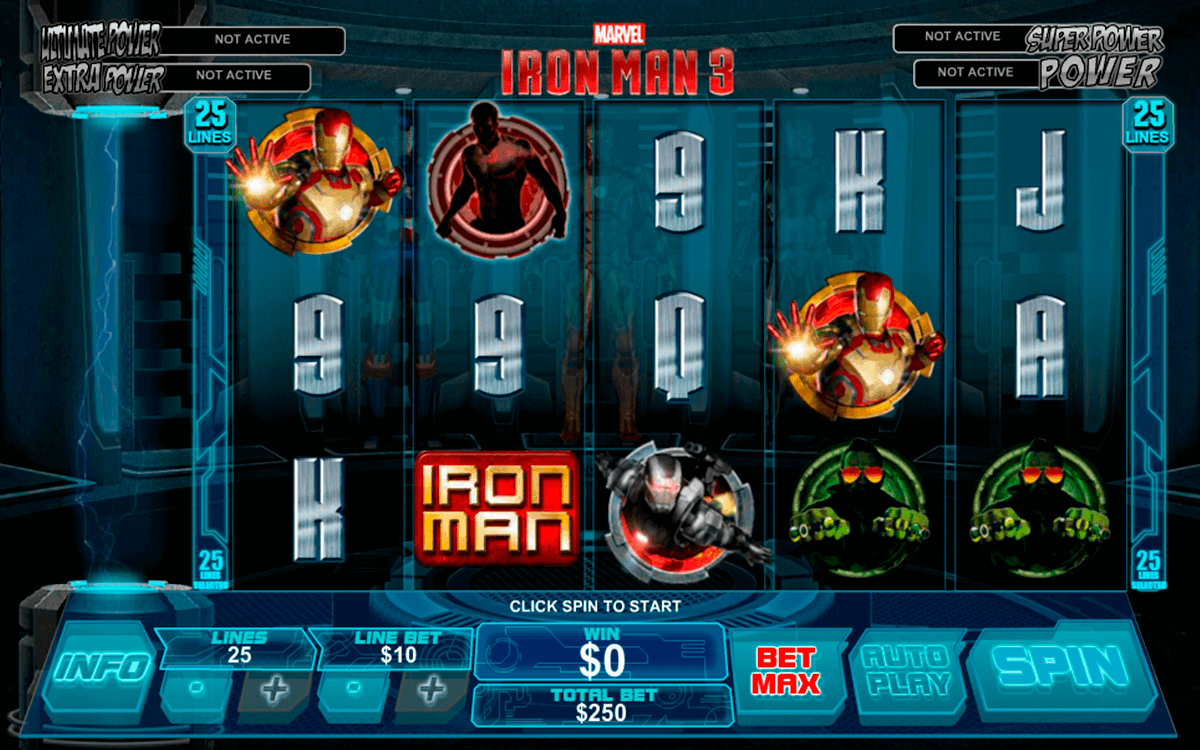 iron man 3 playtech gokkast