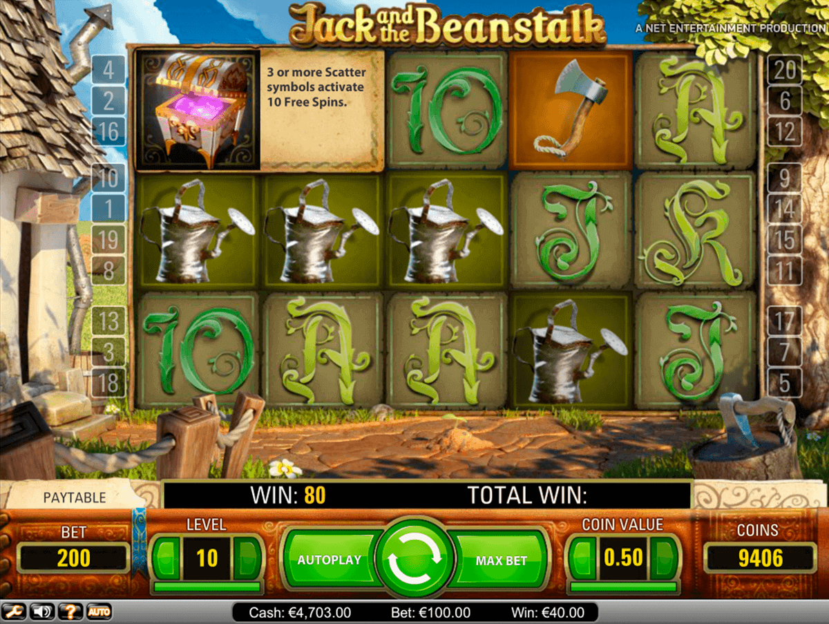 jack and the beanstalk netent gokkast