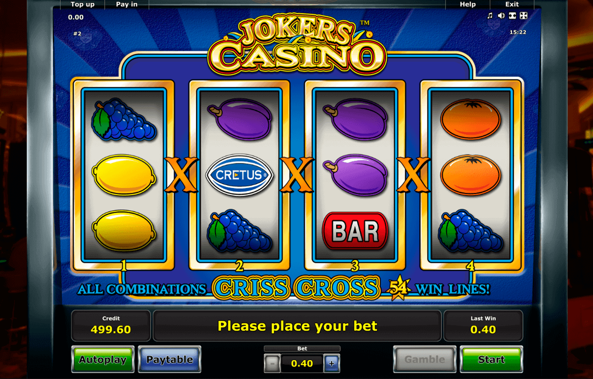 jokers casino novomatic gokkast