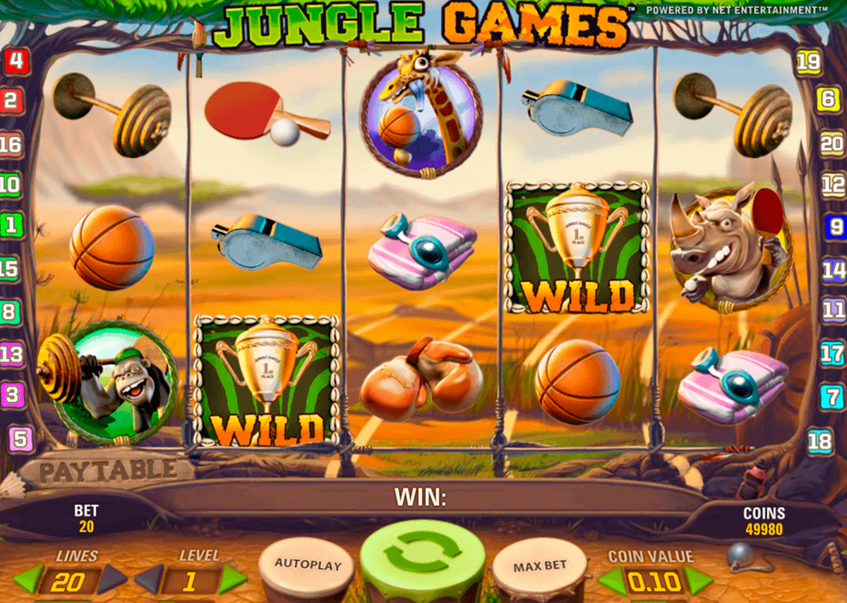 jungle games netent gokkasten