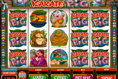 karate pig microgaming gokkast