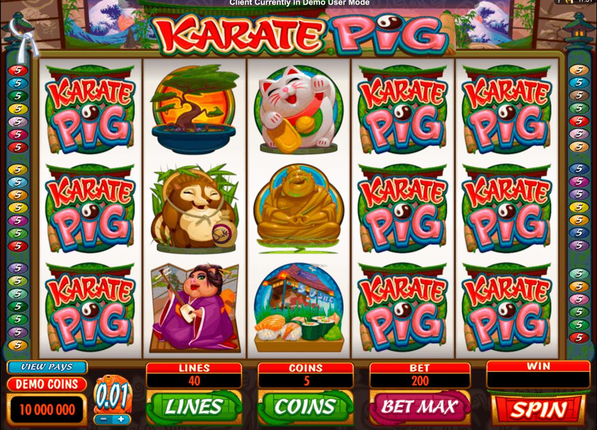 karate pig microgaming gokkast