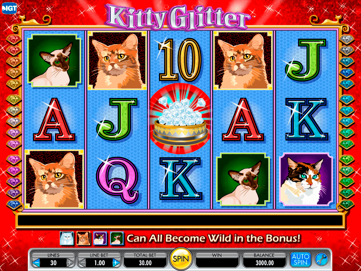 kitty glitter igt gokkast