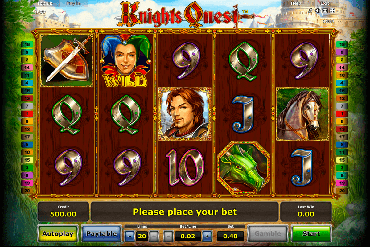 knights quest novomatic gokkast