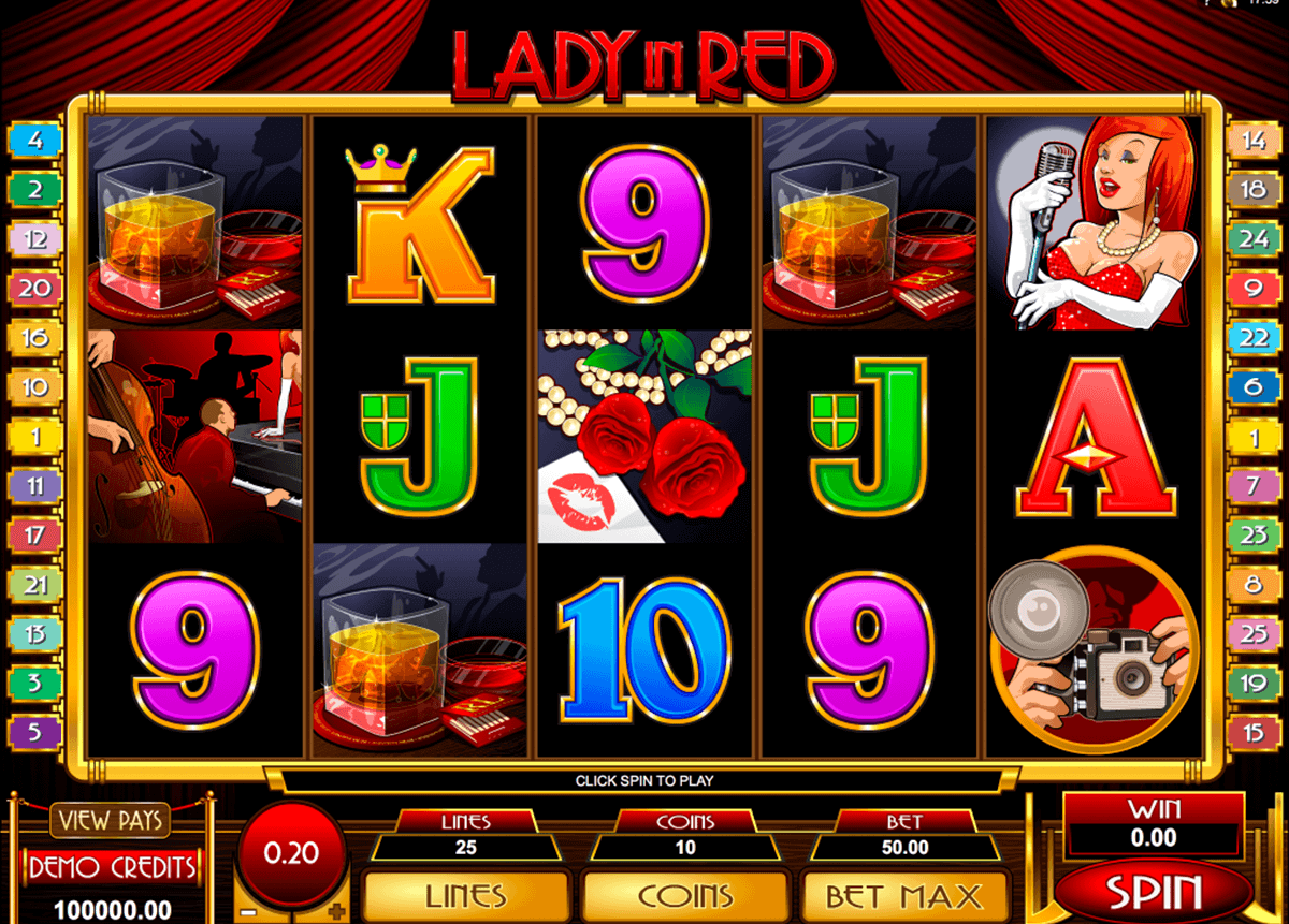 lady in red microgaming gokkast