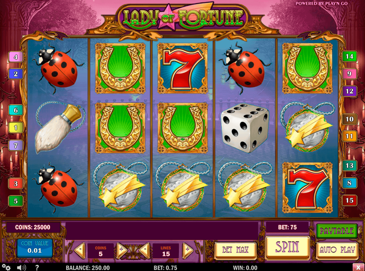 lady of fortune playn go gokkast
