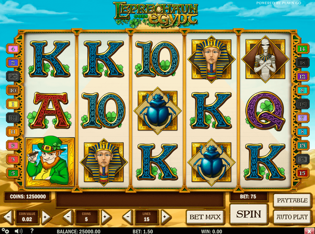leprechaun goes egypt playn go gokkast
