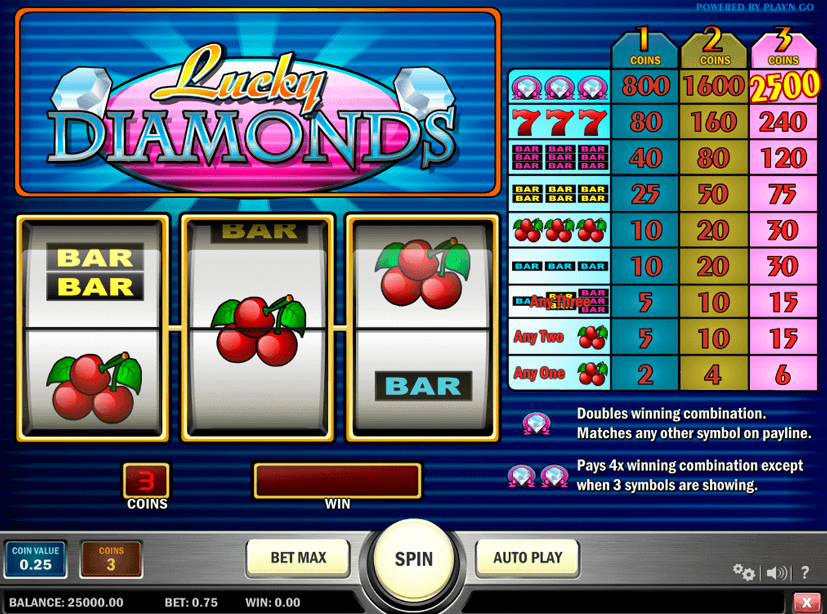 Lucky Diamonds Slot Machine Online ᐈ Playn Go™ Casino Slots