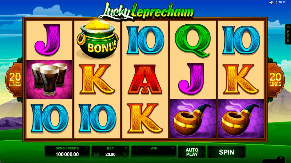 lucky leprechaun microgaming gokkast
