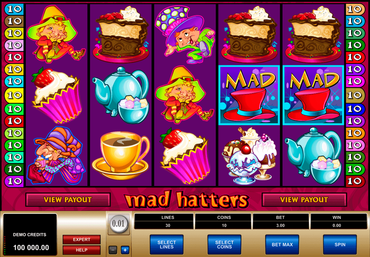 mad hatters microgaming gokkast