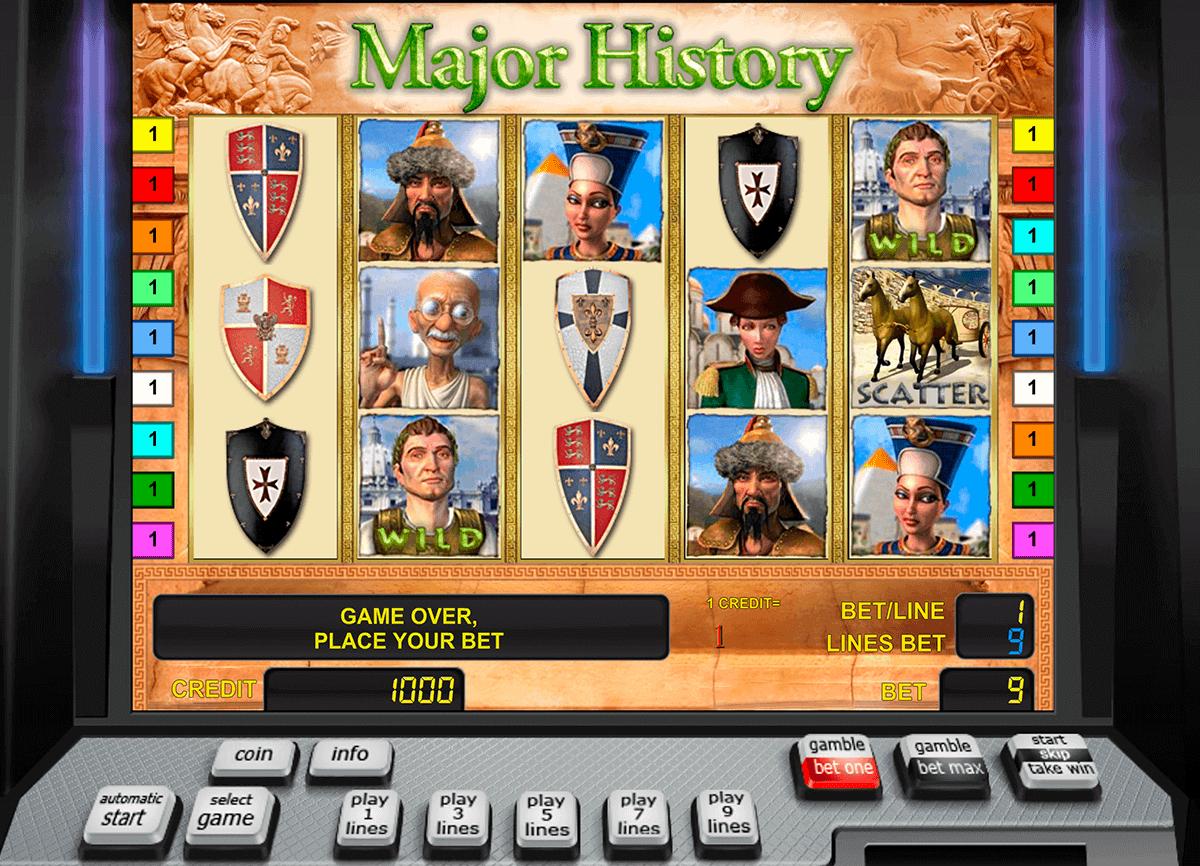 major history novomatic gokkast