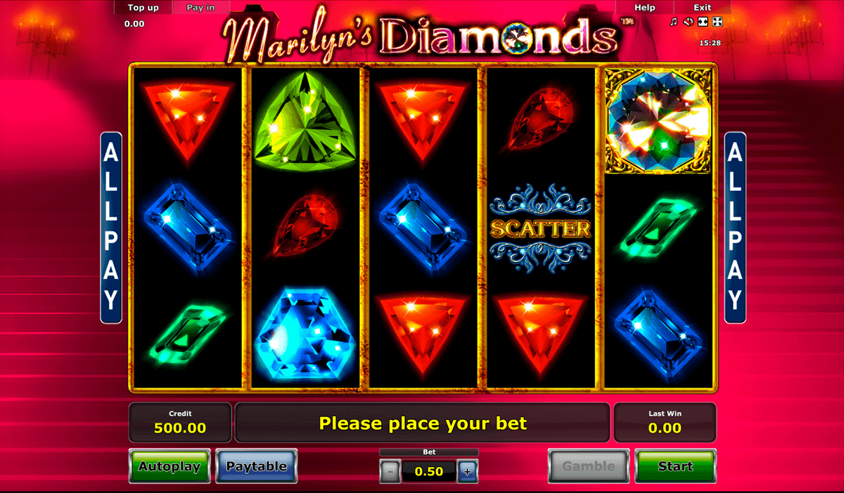 marilyns diamonds novomatic gokkast